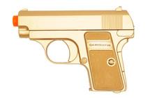 Double Eagle P328 Spring pistol bb gun in gold