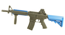Lancer Tactical M4 CQBR MK18 AEG in Blue