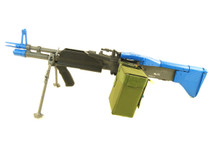 A&K MK43 Support Gun with Bipod Airsoft AEG in Blue