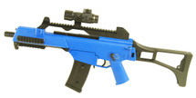 BROKEN//FAULTY-BlackViper G36 AEG Full auto Airsoft BB Gun in Blue/CLEAR