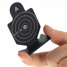 Metal Soldier Knockdown Target with Round Design.