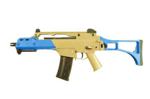 Ares AR-056 Hk G39 Aeg Airsoft Rifle In Tan/blue