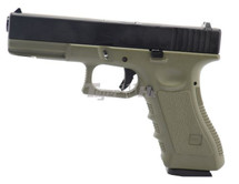 Army Armament R17 GBB V3 Pistol In Olive & Black