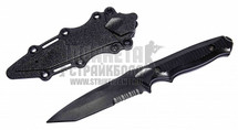 T&D Plastic Tanto Training Knife with a sheath in black
