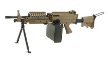A&K MK46 with Retractable Stock and Bipod AEG in Tan