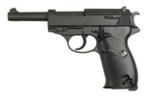 Galaxy G21 Full Metal Walther P38 pistol in Black