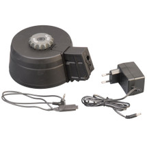 A&K 3000rd Sound Control Drum Box Magazine for G36 AEG A021 with EU charger