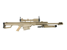 Snow Wolf Barrett M82 Sniper Rifle AEG with Scope and Bipod in tan