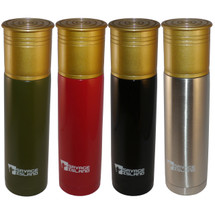 Savage island 750ml Steel Thermal Shotgun Cartridge Flask in green