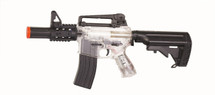 Blackviper B3812 M4 CQB Full Auto With Navy Stock in clear
