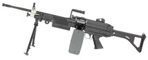 A&K M249 MKI Airsoft gun with Skeleton Stock in black