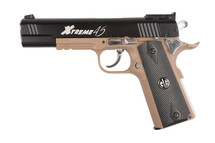 G&G Xtreme 45 Full Metal CO2 Airsoft Pistol Half Tan