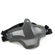 Wo Sport Metal Mesh Lower Half Face Mask in Grey