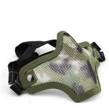 Wo Sport Metal Mesh Lower Half Face Mask in WoodLand / AOR2 Camo
