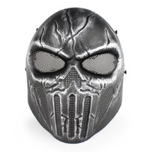 Wo Sport Skull Chastener Airsoft Mask in Silver