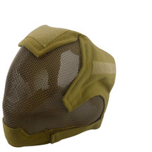 Wo Sport V6 Fencing Style Hood Full Head Mask in Desert Tan