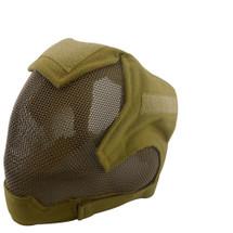 Wo Sport V6 Fencing Style Hood Full Head Mask in Desert Tan