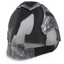 Wo Sport V6 Fencing Style Hood Full Head Mask in Kryptek Typhon Camo