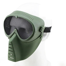 Wo Sport Sand Trooper Metal Mesh Mask in Olive Drab
