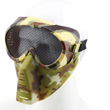 Wo Sport Aviator Airsoft Mask with Metal Mesh Eyes in Camo