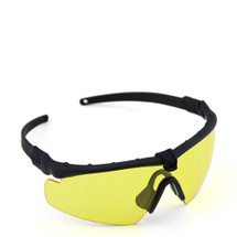 WoSport 2.0 Airsoft Glasses Black Frame With Yellow Lens