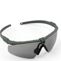 WoSport 2.0 Airsoft Glasses Olive Frame With Black Lens