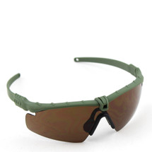 WoSport 2.0 Airsoft Glasses Olive Frame With Brown Lens