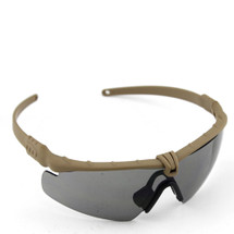 WoSport 2.0 Airsoft Glasses Tan Frame With Black Lens