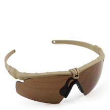 WoSport 2.0 Airsoft Glasses Tan Frame With Brown Lens