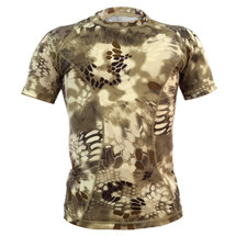 Wo Sport T-Shirt Short Sleeved in Highlander Camo