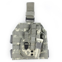 WoSport Molle Leg Platfom inc Holster in Multi Cam