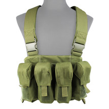WoSport 4 Pouch Tactical Vest in Olive