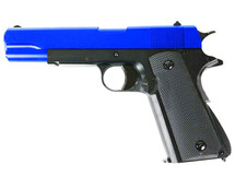 BROKEN//FAULTY-GG 107 Gas Powered 1911 Pistol NBB in Blue
