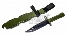 T&D Bayonet Plastic Training Knife in Olive Drab