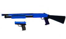 Cyma P799 Pump Action Shotgun & Pistol in Blue
