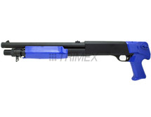 Double Eagle M56b pump action bb shotgun in blue/black