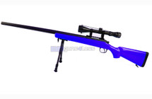 Well MB03 Two Tone Sniper Rifle with scope & bipod in Blue
