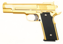 Galaxy G20 Full Scale M945 Pistol in Full Metal in Gold