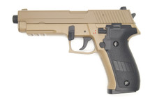 Cyma CM122 Electric Airsoft Pistol AEP in Tan