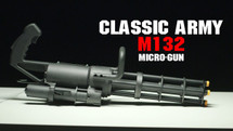 classic army gas m132 micro gun with rotating barrel