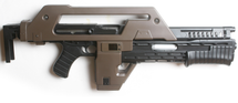 Snow Wolf M41A Pulse Rifle AEG AKA The Alien Gun in Tan