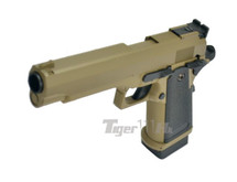 Cyma CM128 Electric Airsoft Pistol AEP in Tan
