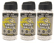3 pots of angry ball bb pellets  0.12g