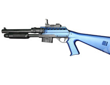 Vigor 0581B Pump Action Shotgun in Blue with flashlight