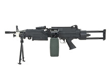 A & K M249 SAW Para Version Airsoft Gun in Black
