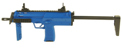 Well Metal R4 MP7 Blue Electric Rifle with extendable stock