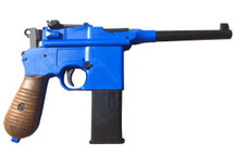 Well G196 Broom Handle Mauser C96 Co2 pistol in blue