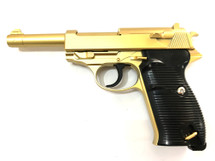 Galaxy G21 Full Metal Walther P38 pistol in Gold