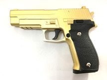 Galaxy G26 P226 Full Scale Metal pistol With Rail Gold