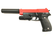 Galaxy G26A P226 Metal Pistol inc Silencer in Red